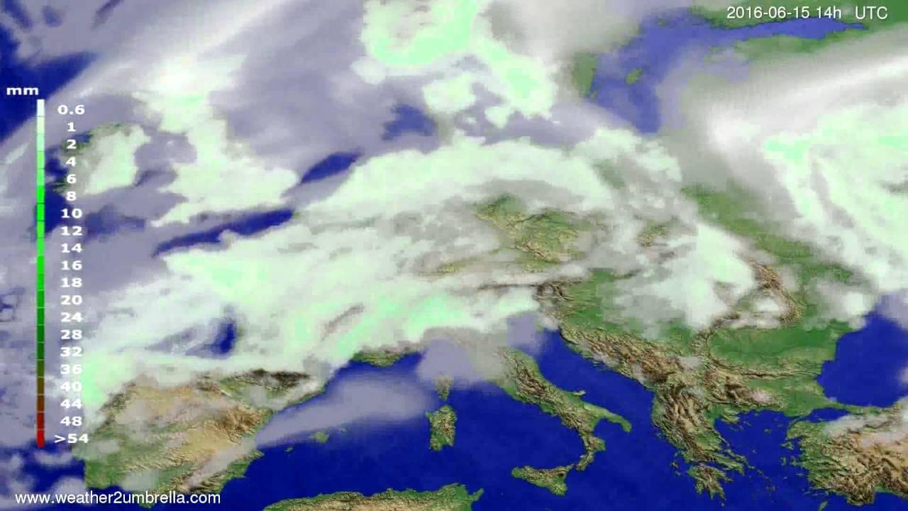 Precipitation forecast Europe 2016-06-11