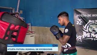 Lutador de Iperó fatura cinturão mundial de kickboxing