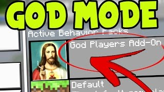 "MCPE "" GOD MODE "" ADDON! // MCPE GOD - Minecraft Pocket Edition GOD MODE ADDON and BEHAVIOR PACK!"