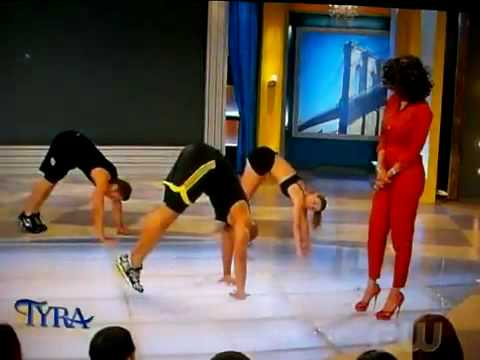 shaun t - Shaun T. showed his INSANITY non-stop power moves on the Tyra Banks show! No equipment or weights needed. Just the will to get the hardest body you ever had!...