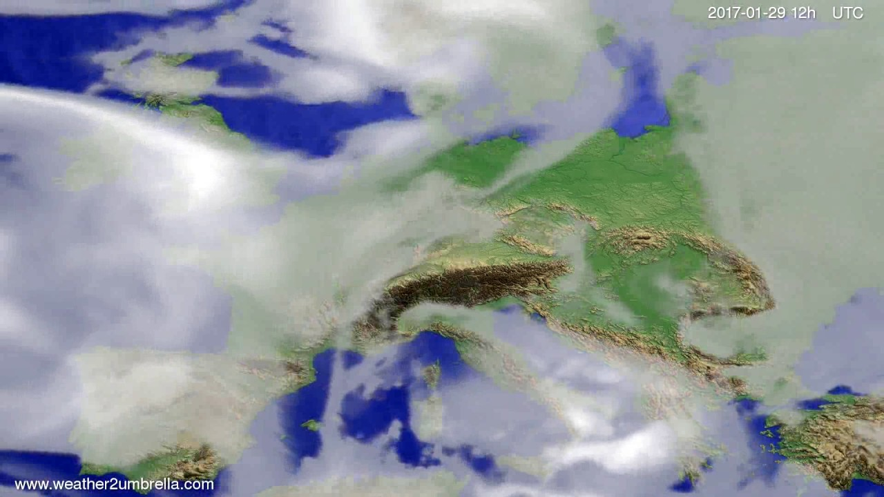 Cloud forecast Europe 2017-01-27
