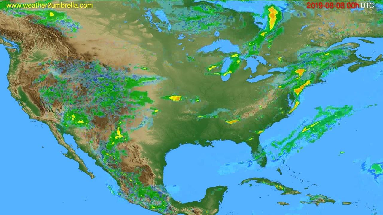 Radar forecast USA & Canada // modelrun: 12h UTC 2019-08-07