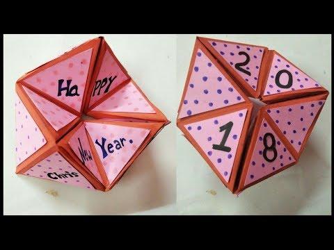 diy new year card | hexaflexagon card tutorial |handmade new year card