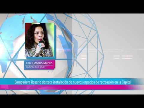 Compañera Rosario destaca instalación de nuevos espacios de recreación en la Capital