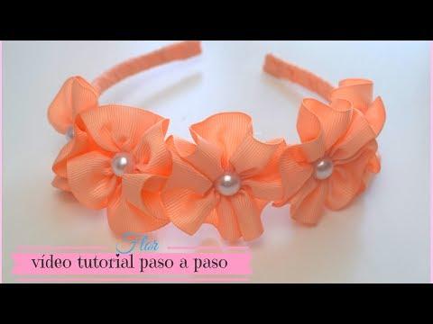 Flor de cinta para Diadema/ cintillos.♥ | Max Q Wapa DIY