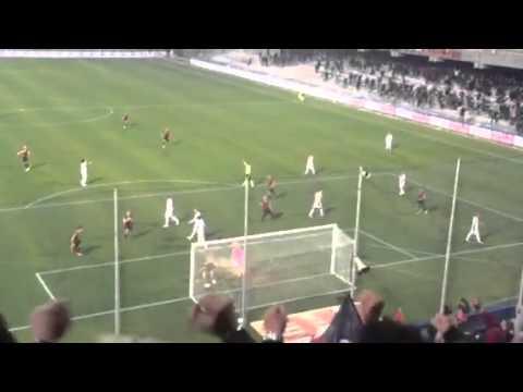 favoloso goal in diretta dalla curva! favasuli in salernitana-foggia 2-2