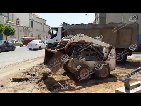 تعبيد وترصيف محطة للسيارات بوسط مدينة الخمس