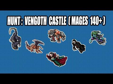 TIBIA l VENGOTH CASTLE: BOA XP E LUCRO (700k/h xp) [MAGES 140+]
