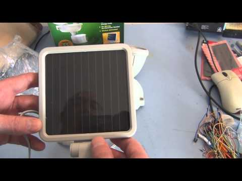 Solar Powered Security light with Motion Sensor installation