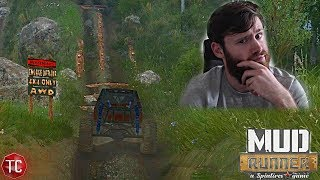 SpinTires MudRunner: Wyre Woods, PART 2 | HILLCLIMB SECTION!! New Map Exploration