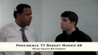 Ed Cooley Reacts to the 77-68 Win Over Robert Morris