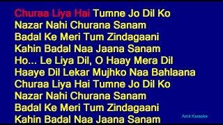 Video Chura Liya Hai Tumne Jo Dil Ko - Asha Bhosle Mohammed Rafi Duet Hindi Full Karaoke with Lyrics MP3, 3GP, MP4, WEBM, AVI, FLV Juni 2018