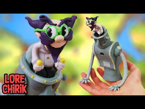 Making Dr. Kahl's Robot Boss from Cuphead in Polymer Clay
