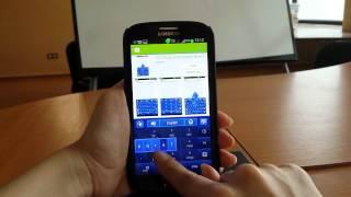 GO Keyboard Simply Blue theme YouTube video