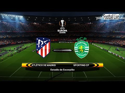 PES 2018 | Atletico Madrid Vs Sporting Lisbon | UEFA Europa League | Gameplay PC