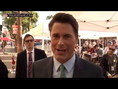 Rob Lowe Walk of Fame Ceremony