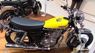 8. 2016 Yamaha SR400 60th Anniversary - Walkaround - 2015 EICMA Milan