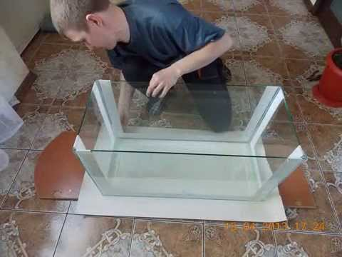 Аквариум своими руками из стекла на ютубе