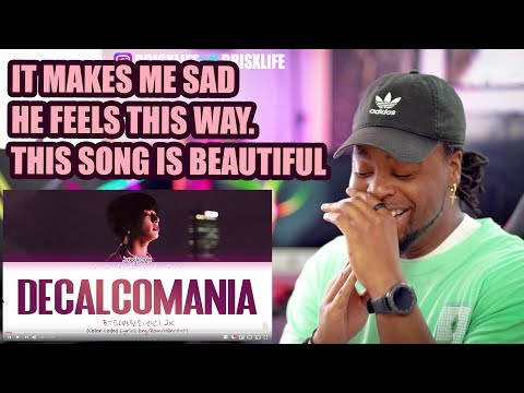 BTS Jungkook - Decalcomania  What Does It Mean?  LYRIC REACTION!!!