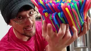 Video DIY Baby Chair of Straws!  (FUNnel Vision Gets Soggy Vlog) MP3, 3GP, MP4, WEBM, AVI, FLV September 2018