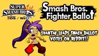 Shantae Leads Latest Smash Bros Fighter Ballot Fan Poll On Reddit!!!
