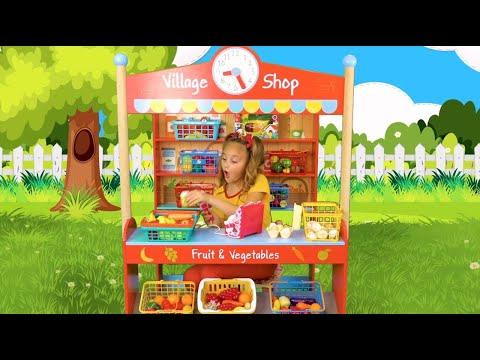 Sasha y Anita juegan al piso de lava y guardar juguetes. Aventuras divertidas con lava