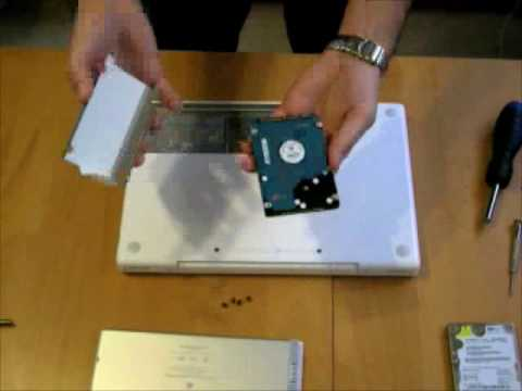 macbook upgrade - I demonstrate how to upgrade a Macbook hard drive - all the way from cloning the drive using SuperDuper to installing the drive into the machine and booting....