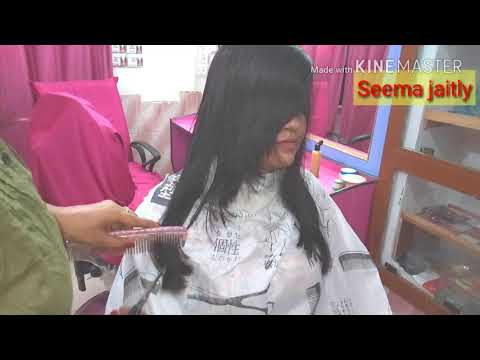 Hair cutting - Thick Hair front cutting/How to change face forming/Back 1980 Haircuts in New form/ Seema jaitly