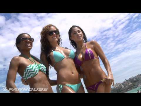 UFC 127 Fighters Octagon Girls Invade Bondi Beach