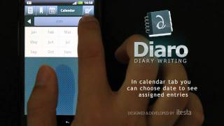 Diaro - diary writing YouTube video