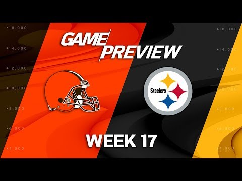 Video: Cleveland Browns vs. Pittsburgh Steelers | NFL Week 17 Game Preview | NFL Playbook