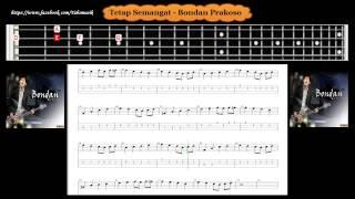 Bass - Tetap Semangat - Bondan Prakoso ( Tab Bass Cover )