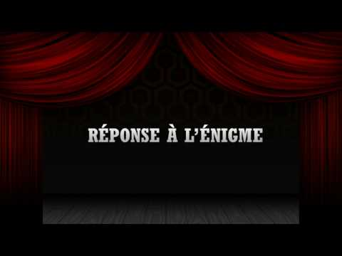 Jean-Thomas Jobin - Réponse à l'énigme