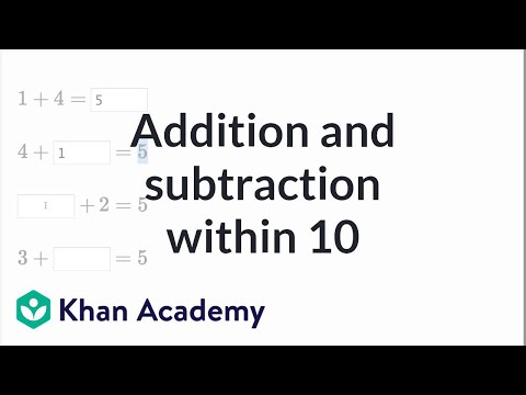 Addition And Subtraction Within 10 Video