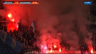 Video FC Hansa Rostock -1.FC Magdeburg 10.Spieltag Pyro Spielunterbrechung Tore MP3, 3GP, MP4, WEBM, AVI, FLV Agustus 2018