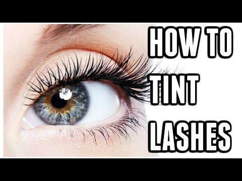 HOW TO TINT EYELASHES AT HOME 💖 | Carly Musleh