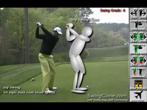 SwingClone Kinect Animated Golf Lesson and Analysis of Adam Scott