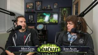 We sat down with Lead Game Designer Matt Goss live to answer your World of Warcraft: Legion itemization questions.