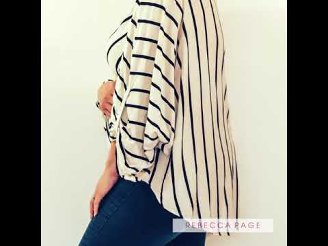 The Neve - A billowy wrap blouse sewing pattern
