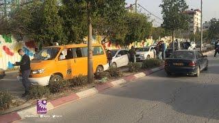 حادث اصطدام 5 مركبات على شارع شويكة بطولكرم