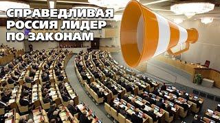 СПРАВЕДЛИВАЯ РОССИЯ лидер по законам