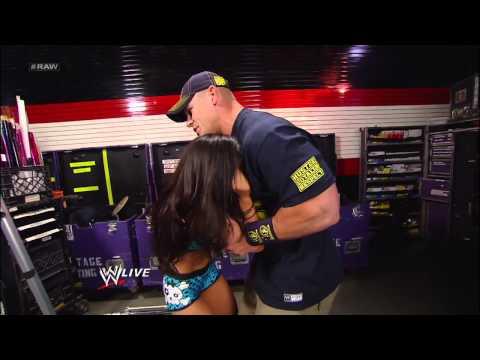 John Cena consoles an irate AJ Lee: Raw, Dec. 10, 2012