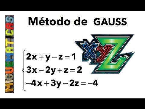 Método de Gauss : Resolución de un sistema de ecuaciones lineales 3 x 3