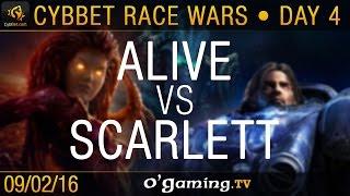 aLive vs Scarlett - TvZ - CybBet Race Wars - Day 4