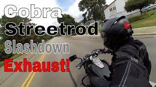 10. Honda Shadow Phantom - Cobra Streetrod Slashdown Exhaust - TroysTube