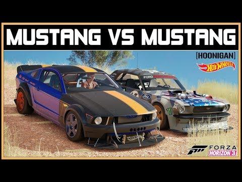 Forza Horizon 3 - HOONIGAN vs HOT WHEELS - MUSTANG vs MUSTANG