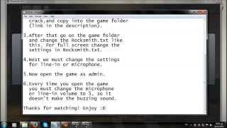 1.First you must download the game link: http://kat.torrenticity.com/rocksmith-2014-all-updates-and-dlcs-t8113377.html#main 2.