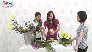 Hướng dẫn cắm giỏ hoa kiểu Oval đặc sắc