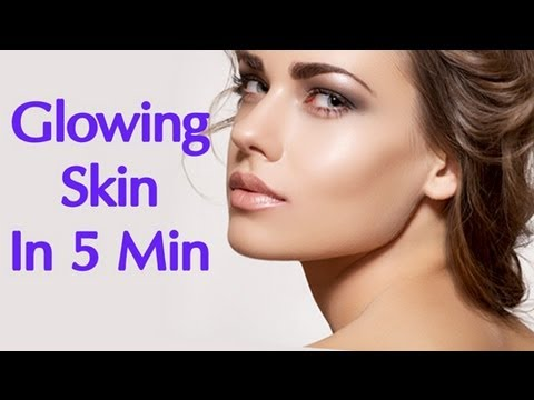 Beauty Tips – Glowing Skin in Minutes – Simple Home Remedies