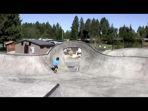 Justin and Travis Rivera Harshman skatepark McCall Idaho
